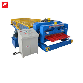 Colored Steel Plate Glazed Tile Roll Forming Machine