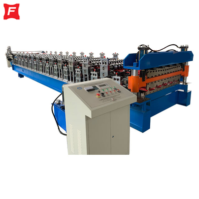 Corrugated And Trapezoidal Double Deck Roll Forming Machine